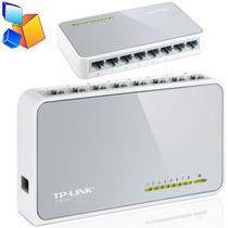Switch 8 Puertos Tp-link Tl-sf1008d 10/100mbps Rj45 Ports
