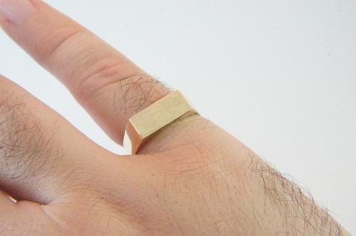 swjoias anel masculino chapa gravação nome forrado ouro 18k