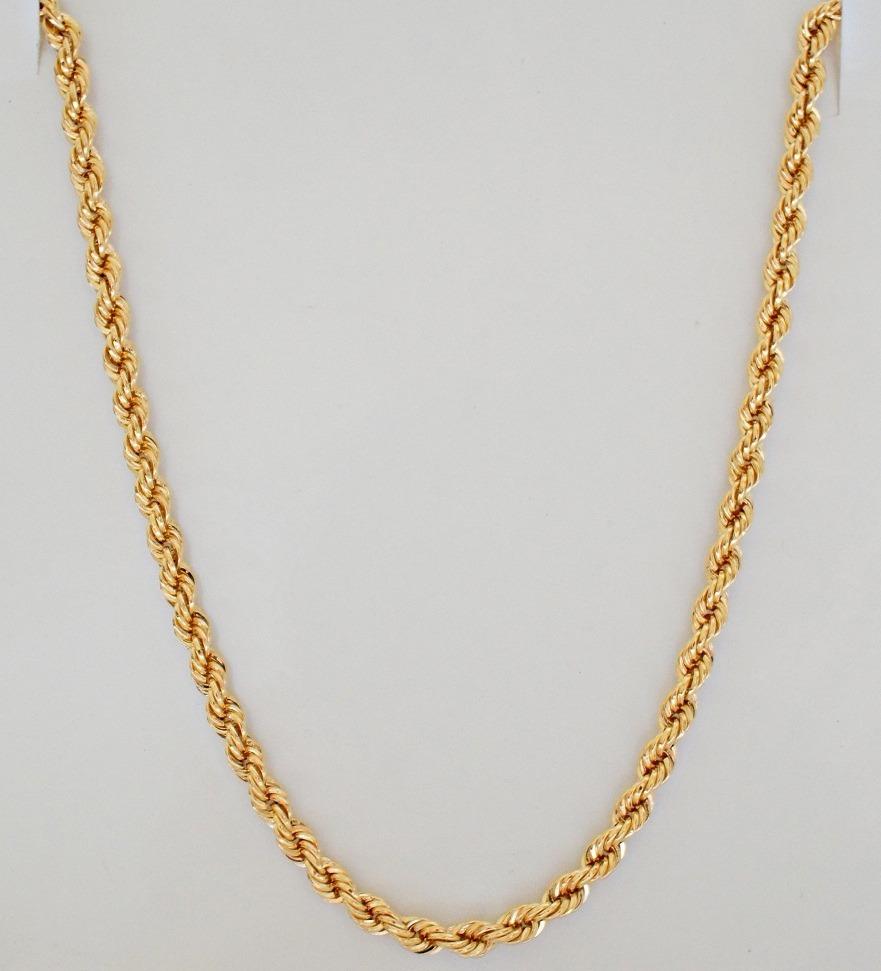 swjoias corrente cordão baiano masculino corda 60cm ouro 18k. Carregando  zoom. 760d496620