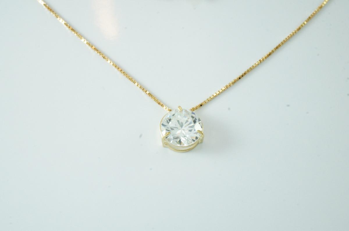 swjoias corrente feminina ponto de luz zircônia 45cm ouro18k. Carregando  zoom. 410d0f976e