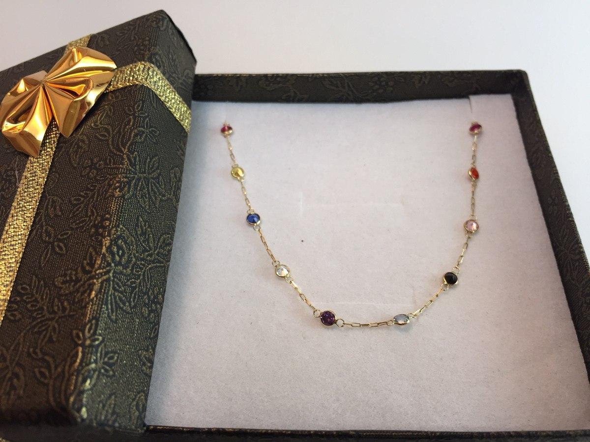 fcded0486489f swjoias gargantilha pedras coloridas zirconia ouro 18k 750. Carregando zoom.