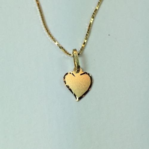 swjoias gargantilha veneziana coração ouro 18k 750 40cm
