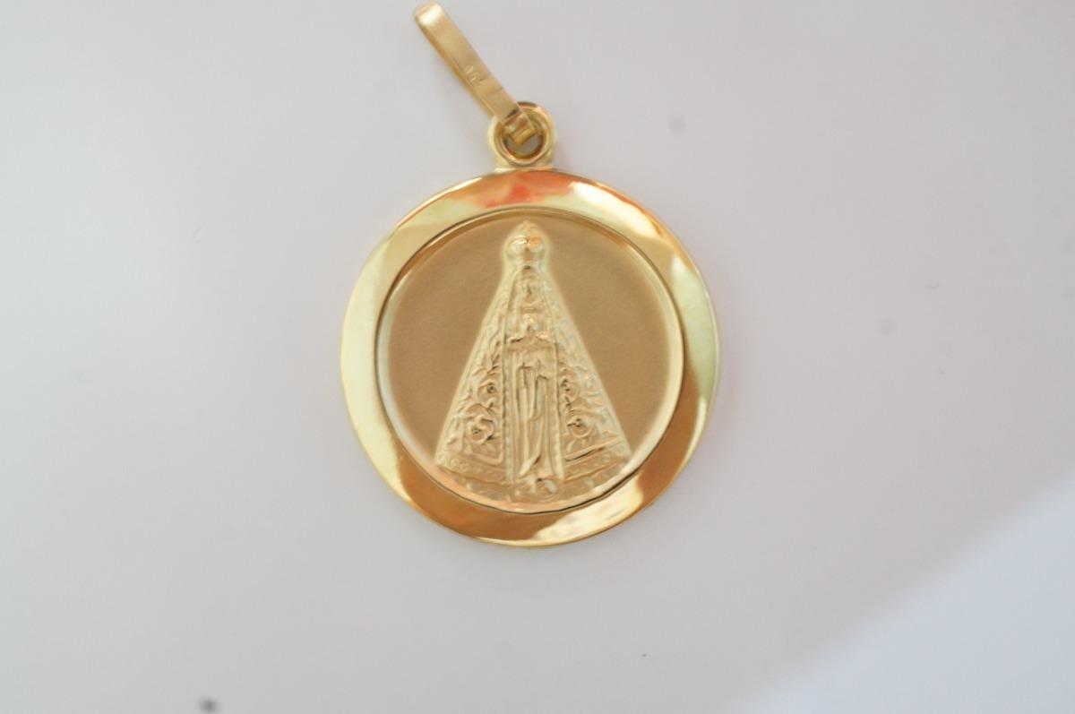 swjoias medalha pingente nossa senhora aparecida ouro18k 750. Carregando  zoom. 324f9c633c