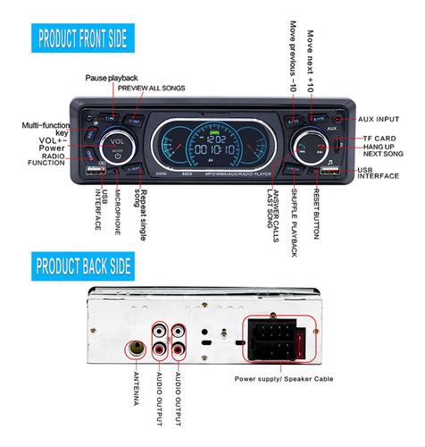 swm 8809 vehículo bluetooth coche reproductor de mp3 audio e