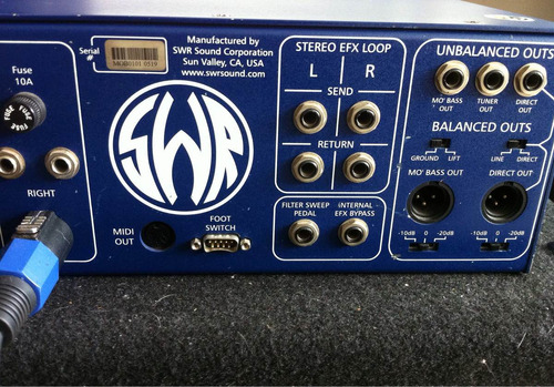 swr mo' bass cabezote / amplificador para bajo con efectos