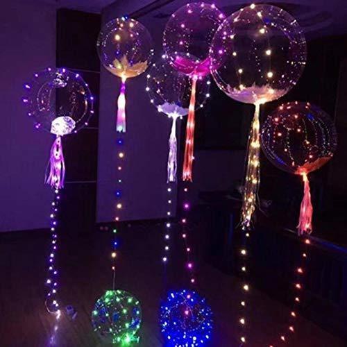 swyss 20 pulgadas colorido luminoso led globo transparente