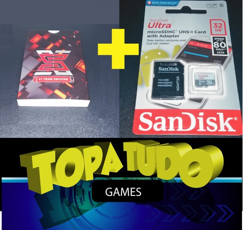 sx pro + cartão de memória  32gb + jogos prontos para jogar