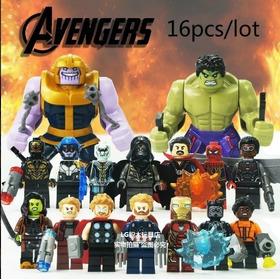 Sy1060 Avengers Infinity War Muñeco Set Por 16 Mini Figuras