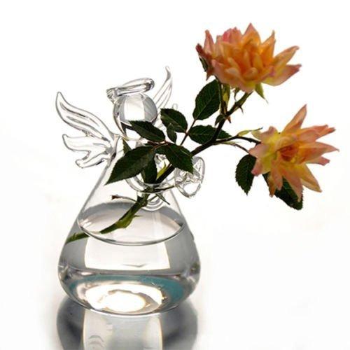syaglass set de 4 lindos vidrio claro ángel forma flor plan
