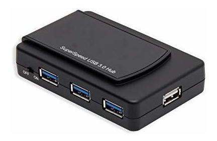 syba 7 puertos usb 3.0 y usb 2.0 hub con cable usb 3.0 y ada