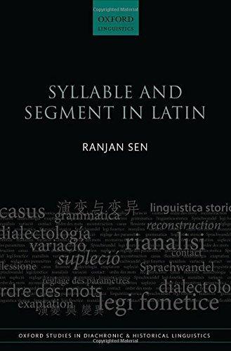 syllable and segment in latin : ranjan sen
