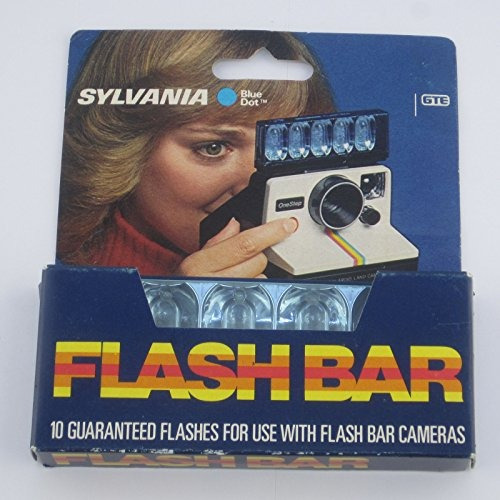 sylvania blue dot flashbar para polaroid sx70 land camera