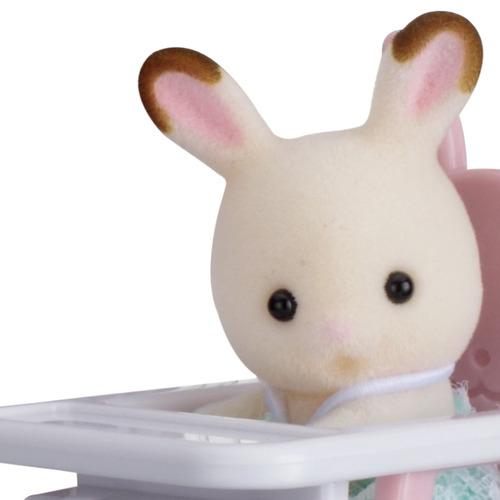 sylvanian bebe conejo con sillita sylvanian familie original
