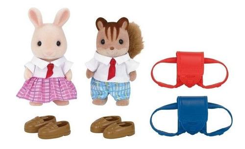 sylvanian families amigos de escuela con accesorios
