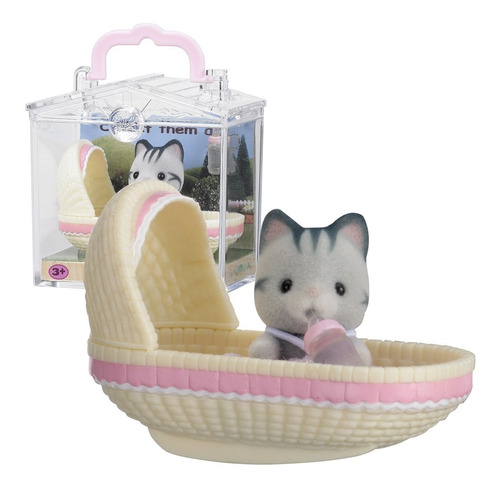 sylvanian families bebe gato con cuna y mamadera cuotas