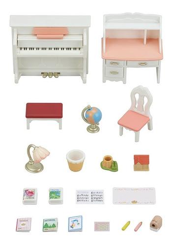 sylvanian families conjunto piano com escrivaninha 5284 - ep
