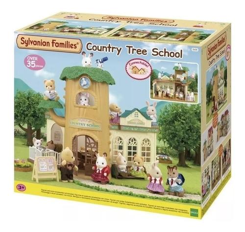 sylvanian families escuela rural en el arbol 5105