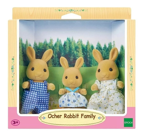 sylvanian families familia de conejos ocre 5129 original