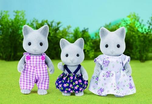 sylvanian families familia de gatos grises 5130sy