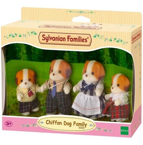 sylvanian families familia de perros de gasa 4 figuras