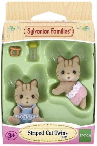 sylvanian families gatos gemelos rayados + accesorios cuotas