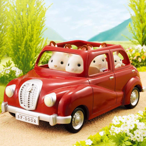 sylvanian families set auto familiar original