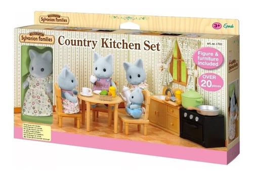 sylvanian families set cocina de campo 5164 original