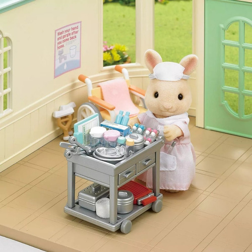 sylvanian families set enfermera coneja con accesorios 5094