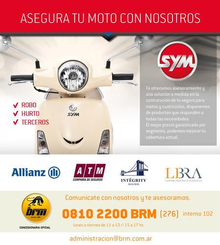 sym crox 125 scooter 0 km - $ 10.000 y cuotas !