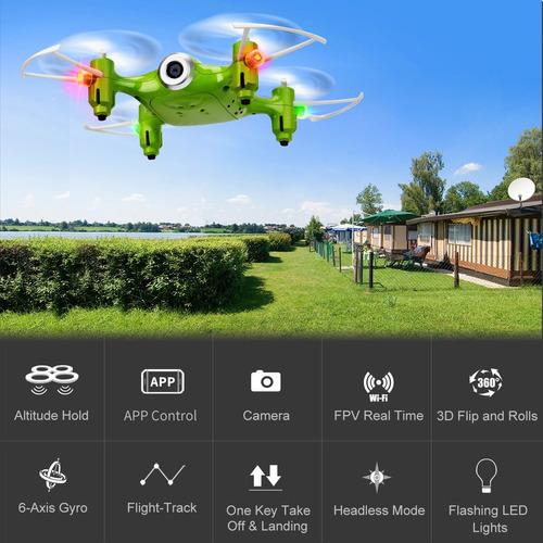 syma x21w wifi fpv mini drone con cámara live video led nano