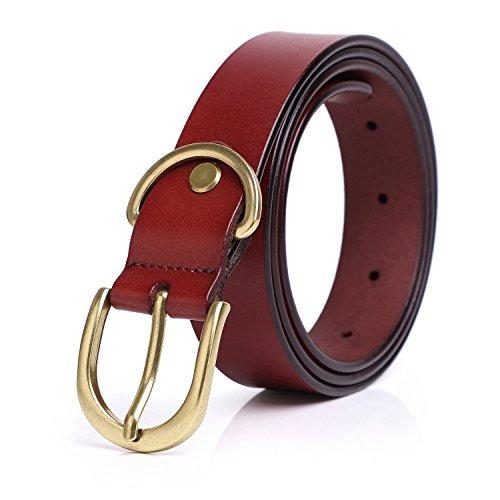 Syuer Mujer Casual Cinturones De Piel Para Jeans fe3553f5d221