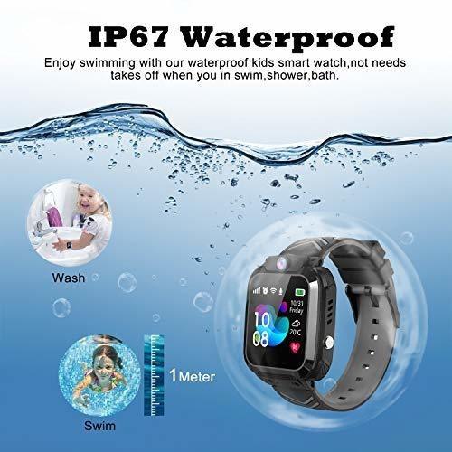 szbxd niños reloj inteligente a prueba de agua telefono lbs