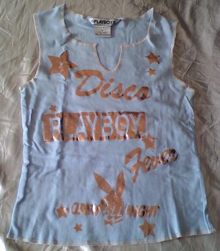 t-0057 blusa azul play boy