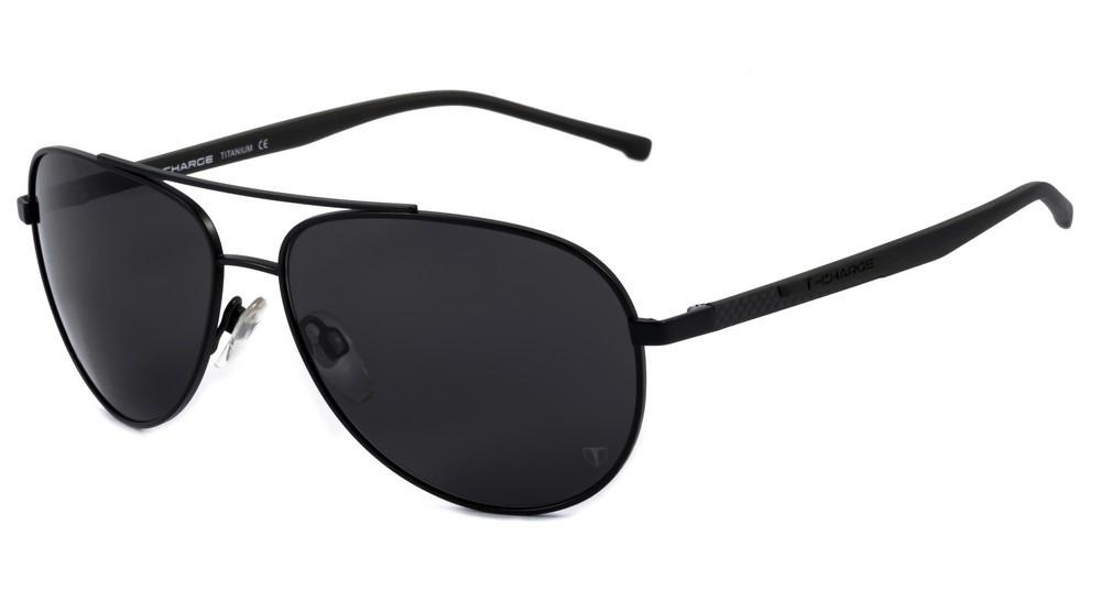 d4023259a084e T-charge T 3037 - Óculos De Sol 09b Preto Fosco E Cinza  - R  374,00 em  Mercado Livre