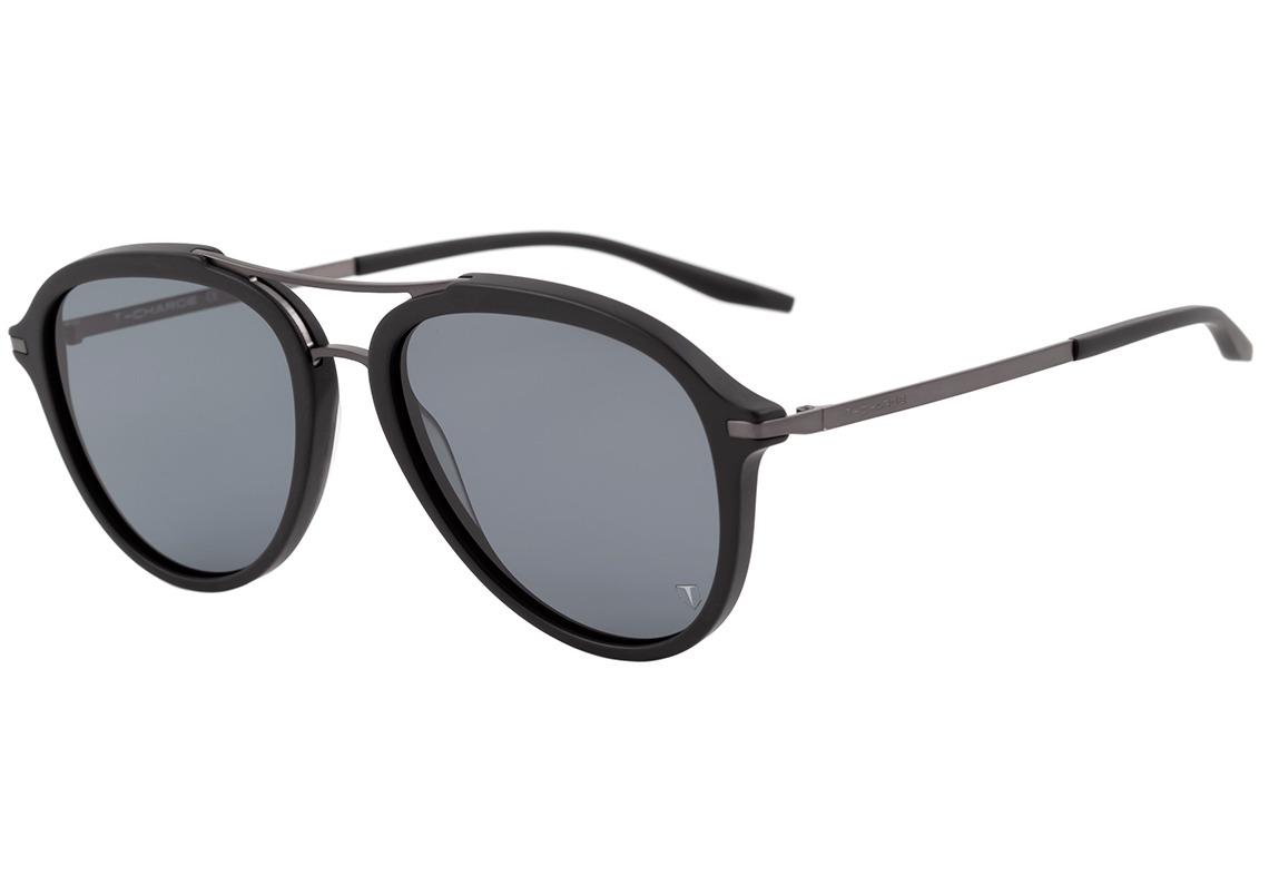 dd5c84631 T-charge T 9055 - Óculos De Sol A02 Preto E Cinza Fosco/ - R$ 99,00 ...