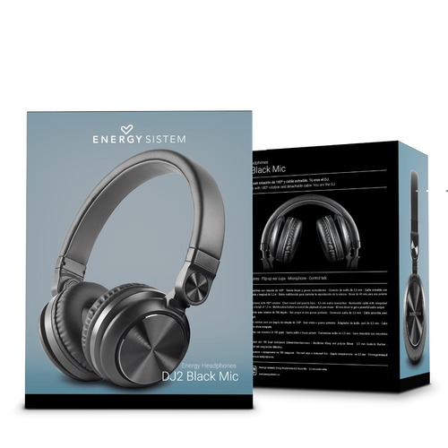 t headphones energy sistem dj2 negro con envío gratis
