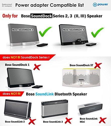 t-power (/ -18v) ac dc adaptador para bose sounddock series