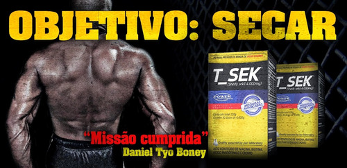 t-sek - diurético e emagrecedor 120g - power supplements