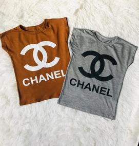 bajo precio a30e5 709ed T-shirt Blusa Chanel Mini Diva Blogueira Estilosas Meninas
