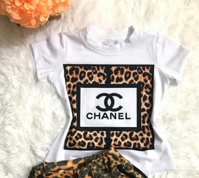 nueva estilos 91229 ce41e T-shirt Blusa Infantil Chanel Oncinha Mini Diva Blogueira