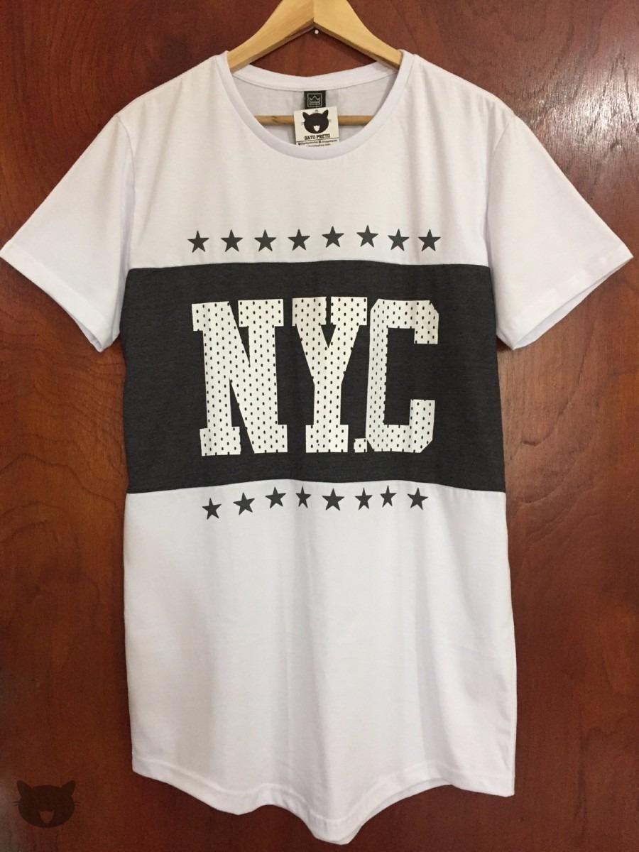 405d7e60cb T-shirt Camiseta Alongada Long Line Oversized Swag Número Ny - R  29 ...
