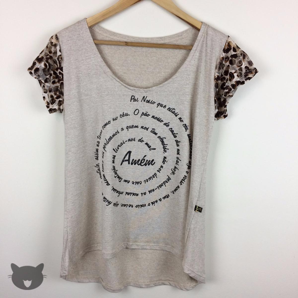 2b3830ee1a t-shirt camiseta blusa feminina mullet fé gospel deus cristo. Carregando  zoom.