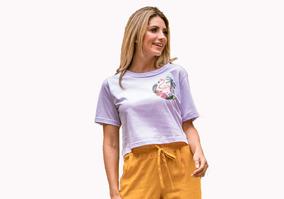 26f0d469c T Shirt Camiseta Cropped Tendencia Moda Instagram Verão 2018