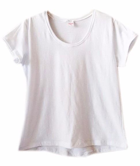 6033679e36 T Shirt Feminina Branca Top Camiseta Básica Baby Look Básica - R  73 ...