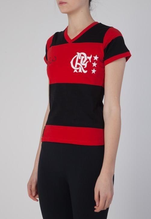 a7b0b28b24da8 T-shirt Feminina Zico Flamengo - Braziline - R  124