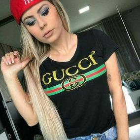 b76da5502aa T Shirt Gucci - Camisetas e Blusas Manga Curta no Mercado Livre Brasil