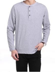 6fe7efd7e Camiseta De Algodon Manga Larga Para Hombre - Vestuario y Calzado en ...
