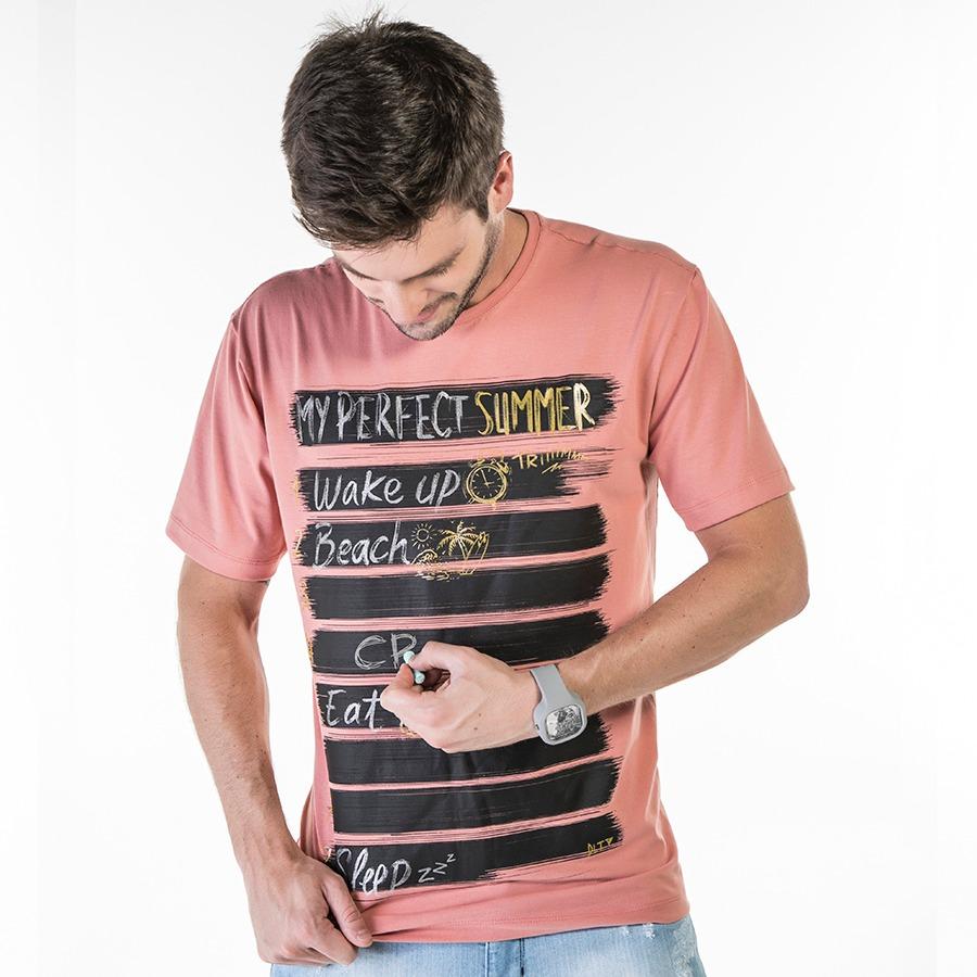 cea5bbb73920 T-shirt Masculina Com Estampa De Lousa - R$ 99,90 em Mercado Livre