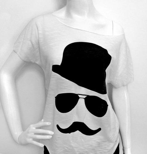 t-shirt mustache
