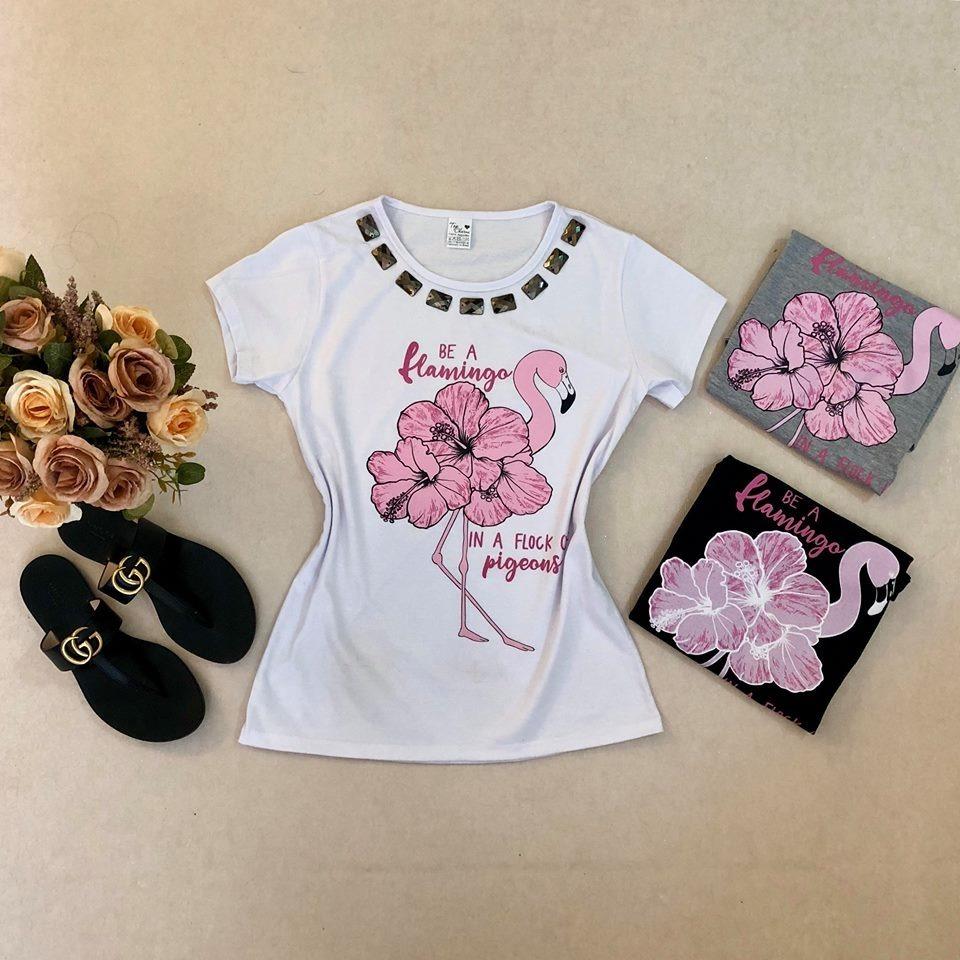 7d8c1add7c T-shirts Com Pedra Blusa Roupa Feminina Atacado Revenda - R  25